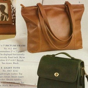 VTG 1970s Coach Court Bag Black Leather
